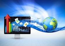 Kugel-Geschäftskommunikation Lizenzfreie Stockbilder