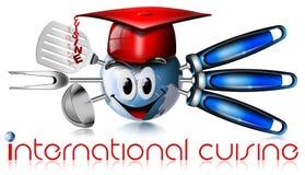 Kugel International-Küche Lizenzfreies Stockfoto