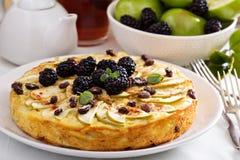 Kugel makaronu tradycyjny naczynie piec kulebiak Zdjęcia Royalty Free