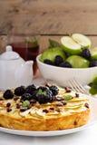 Kugel makaronu tradycyjny naczynie piec kulebiak Fotografia Stock
