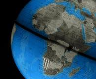 Kugel mit Afrika Stockfotos