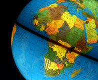 Kugel mit Afrika Stockbilder