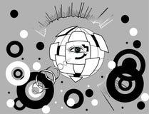 Kugel mit einem Auge nach innen Stockbild