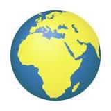 Kugel mit Europa und Afrika stockbilder