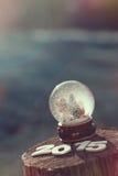 Kugel mit Flocken Lizenzfreies Stockfoto