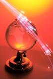 Kugel mit Glasfasern stockbilder
