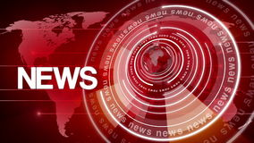 Kugel-Nachrichtenhintergrund 4k des Kreises drehender stock video footage