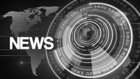 Kugel-Nachrichtenhintergrund 4k des Kreises drehender stock video