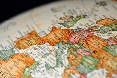 Kugel oder Karte von Frankreich Lizenzfreies Stockfoto
