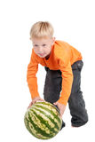 Kugel oder Wassermelone? Stockfoto