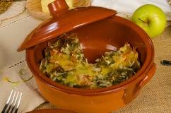 Kugel, refeição festiva Imagens de Stock