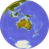 Kugel, schattierte Entlastung, zentriert auf Afrika Lizenzfreies Stockbild