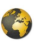 Kugel. Stilisiert Karte des Vektor 3D. Stockfotografie