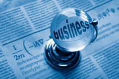Kugel und Formel des Geschäfts Lizenzfreies Stockbild