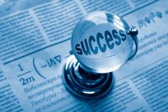Kugel und Formel von succes Lizenzfreie Stockfotos