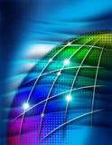 Kugel und wellenförmiger Hintergrund Stockbild