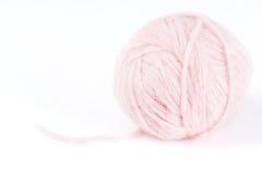 Kugel von recht weich Latten - rosafarbene Angorawollen Stockbild