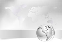 Kugel, Weltkarte - Geschäftskonzept Stockfoto