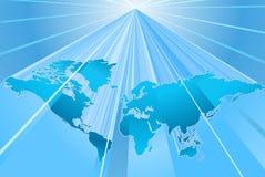 Kugel-Wort-Karte von Erde Backgr Stockfotografie