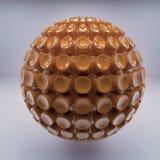 Kugelabstraktion Brown-3d Stockfoto
