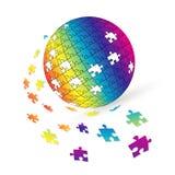 Kugelauslegung des Puzzlespiels 3d Lizenzfreie Stockfotografie