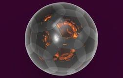 Kugelförmige Glaswiedergabe des Balls 3D lizenzfreie abbildung