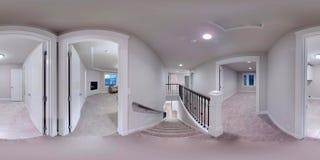 kugelförmige 360 Grad der Illustration 3d, nahtloses Panorama eines Hauses lizenzfreie stockfotos