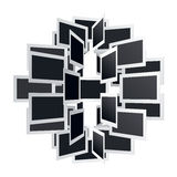Kugelförmige Schablone für Bilder Lizenzfreies Stockfoto