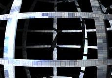 Kugelförmige Struktur stock abbildung