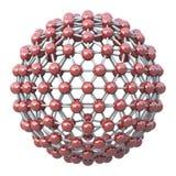 Kugelförmiges molekulares Rasterfeld stock abbildung