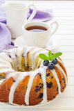 Kugelhopf cake with blueberries Royalty Free Stock Image