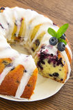 Kugelhopf cake with blueberries Royalty Free Stock Photos