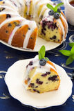 Kugelhopf cake with blueberries Stock Image