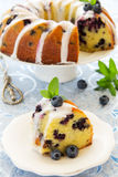 Kugelhopf cake with blueberries Royalty Free Stock Photo