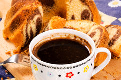 Kugelhopf and turkish coffee Royalty Free Stock Photo
