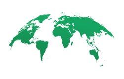 Kugelkartenschablone Gerundete Karte der Weltschablone Lizenzfreie Stockbilder