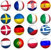 Kugelmarkierungsfahnen, Euro 2012 Gruppen Lizenzfreie Stockfotos