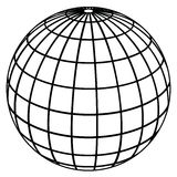Kugelmeridiane/Erdebaumuster stock abbildung