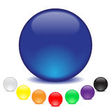 Kugeln in acht Farben Lizenzfreies Stockfoto