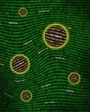 Kugeln der binären Daten, die eine digitale Turbulenz schwimmen Lizenzfreies Stockbild