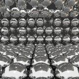 Kugeln des Chrom-3D stock abbildung