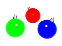 Kugeln des neuen Jahres der Farbe RGB. lizenzfreie abbildung