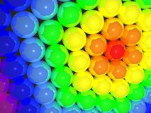 Kugeln des Regenbogens 3D Lizenzfreie Stockfotos