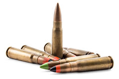 Kugeln für Kalaschnikow Lizenzfreies Stockfoto