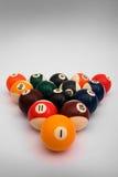 Kugeln für Spiel in den Billiarden Stockbild