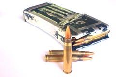 Kugeln (Munition) für Gewehr Lizenzfreies Stockfoto