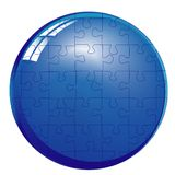 Kugelpuzzlespiel Stockfoto