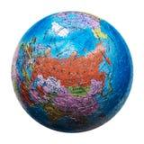 Kugelpuzzlespiel lokalisiert Karte von Russland Lizenzfreies Stockbild