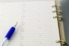 Kugelschreiber auf Papier Lizenzfreies Stockfoto