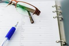 Kugelschreiber auf Papier Stockfotografie